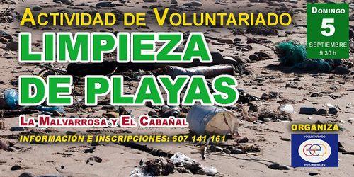 Voluntariado: Limpieza de playas. La Malvarrosa y el Cabañal